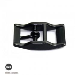 1 x 16mm Boucle pour colliers / Métal / Noir Matt