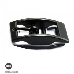 1 x 20mm Boucle pour colliers / Métal / Noir Matt