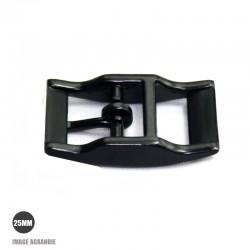 1 x 25mm Boucle pour colliers / Métal / Noir Matt