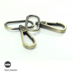 2 x 30mm Mousquetons Pivotants / Metal / Style 4 / Gunmetal