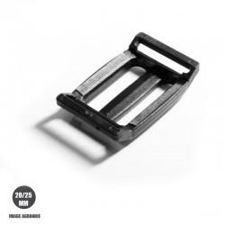 20 - 25mm Boucle Coulissante / Boucle Réglable / Plastique / 4 trous / Noir
