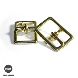 2 x 20mm Boucles Bateau / Conway / Laiton Massif