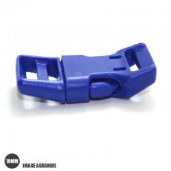 1 x 19mm Boucle Attache Rapide / Fermoir Clip / Plastique / Bleu /  Tres Solide
