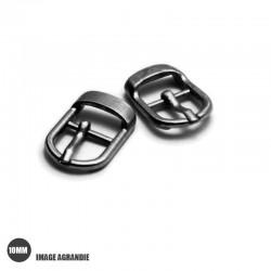2 x 10mm Boucles pour Chaussures / Métal / Gunmetal