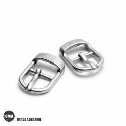 2 x 10mm Boucles pour Chaussures / Métal / Argente