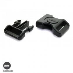 1 x 19mm Boucle Attache Rapide / Fermoir Clip / Plastique / Sécurité / Noir- Style 2