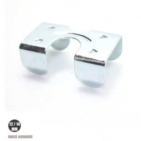 1 x 12/14mm Agrafe pour longes / Acier / avec plaque zinc