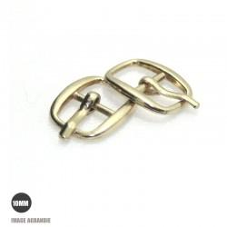 2 x 10mm Boucles de ceintures / Métal / Dore Clair / Arrondi