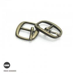 2 x 10mm Boucles de ceintures / Métal / Bronze Antique / Arrondi