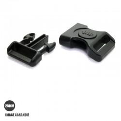 1 x 25mm Boucle Attache Rapide / Fermoir Clip / Plastique / Sécurité / Noir- Style 2