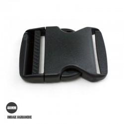1 x 40mm Boucle Attache Rapide / Fermoir Clip / Plastique / Noir / Legerment Courbe / Style 1