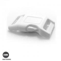 1 x 25mm Boucle Attache Rapide / Fermoir Clip / Plastique / Blanc /  Tres Solide