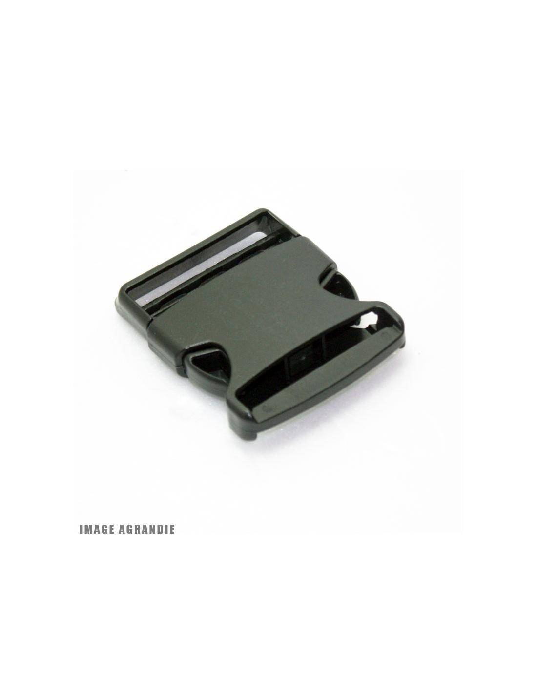 1 x 50mm Boucle Attache Rapide   Fermoir Clip   Plastique   Noir   Rigide    Plat 4be95944c94