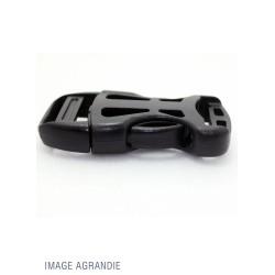 1 x 25mm Boucle Attache Rapide / Fermoir Clip / Plastique / Tactique / Leger / Noir