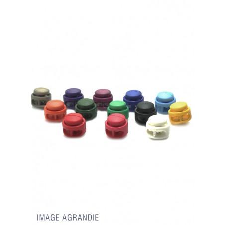 2 Arrêts de cordon / Cylindre / Plastique