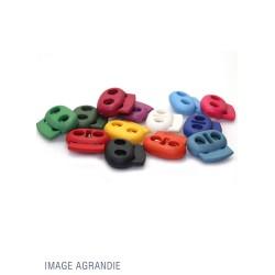2 Arrêts de cordon / Plat / Plastique