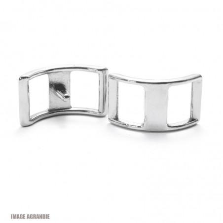 2 x 20mm Boucles Bateau / Conway /Zinc / Chrome
