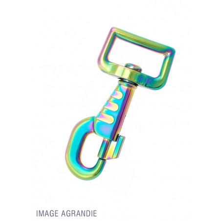 1 x 25mm Mousqueton Pivotant / Métal / Arc En Ciel / Décoré / Animaux / Longueur 80mm