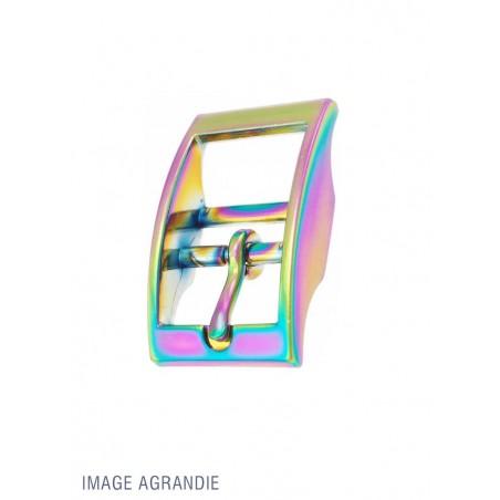 1 x Boucle pour Collier / Zinc / Arc-En-Ciel