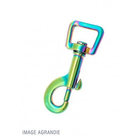 1 x 16mm Mousqueton Pivotant / Métal / Arc-En-Ciel / Animaux / Longueur 66mm