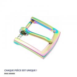 1 x Boucle pour colliers / Metal / Arc-En-Ciel