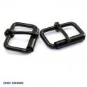2 x Boucles à rouleau / Métal / Noir Matt