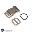 Kit Collier Pour Chien: 25mm / haute qualité / kaki / beige