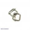 2 x Boucles Coulissantes / Boucles Réglables / Acier / Nickel