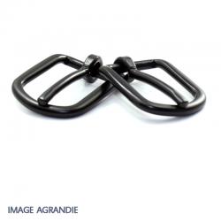 2 x Boucles de Bride / Métal / Noir Matt
