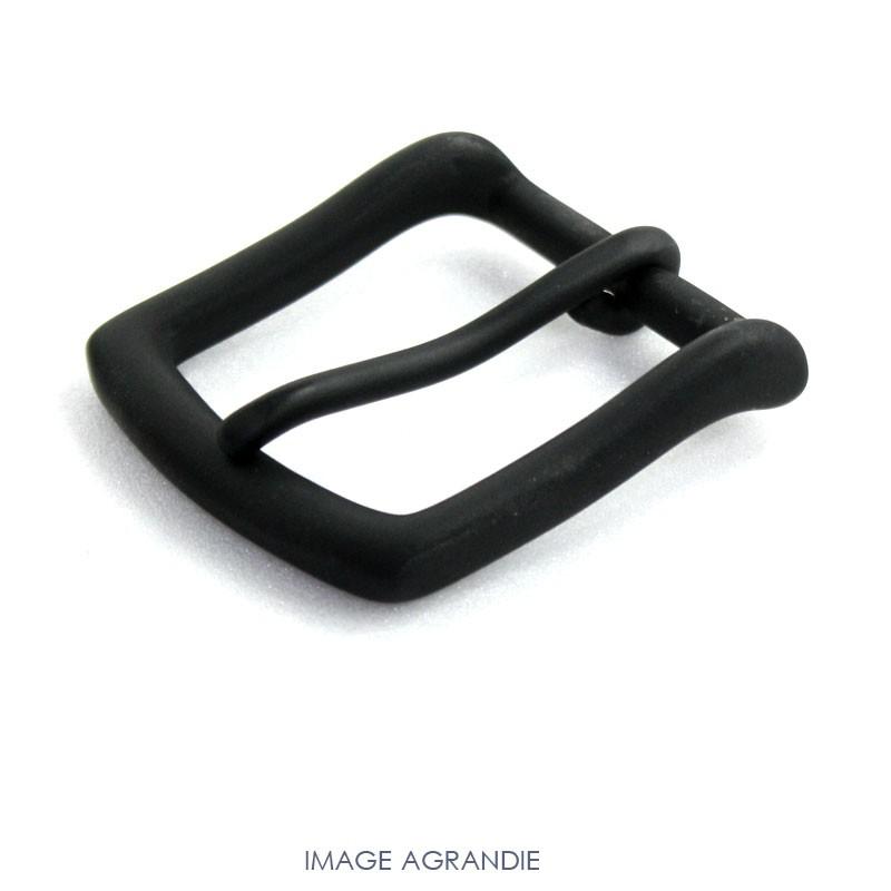 1 x 40mm  Boucle de ceinture / Laiton Massif / Noir Mat
