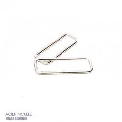 2 x  Anneaux Rectangulaires / Passants Simples / Acier / Leger