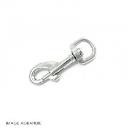 1 x 13mm Mousqueton Pivotant / Metal / Animaux / Chrome / Longeur 61mm