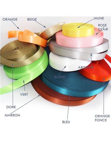 1m x 15mm / Sangle / Nylon / Leger /  choix de couleurs (dernière de stock)