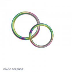Anneaux Rond / Acier / Soudé / Arc En Ciel