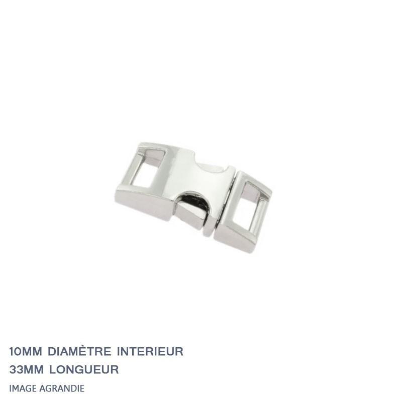 1 x  Boucle Attache Rapide / Fermoir Clip / Metal / Chrome