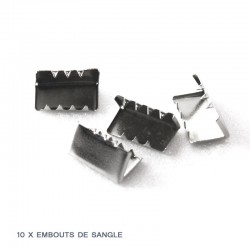 10 x embouts de sangle / metal