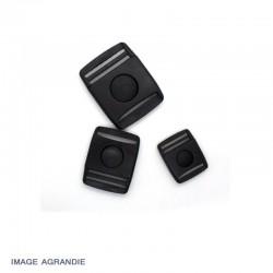1 x 25mm Boucle Centre / Plat / Plastique /  Noir