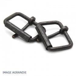 2 x 40mm Boucles à rouleau / Métal / Bronze Antique