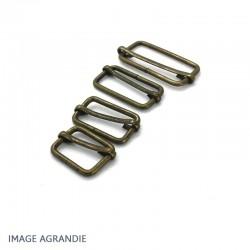 2 x  Boucles Coulissantes / Boucles Réglables / Bronze Antique / Etroit