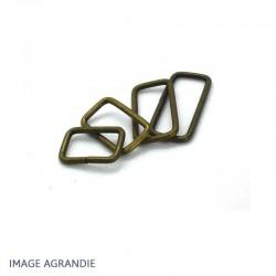 2 x Anneaux Rectangulaires / Passants Simples / Bronze Antique