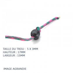 2 Arrêts de cordon / Petite Boule/  Plastique / Translucide