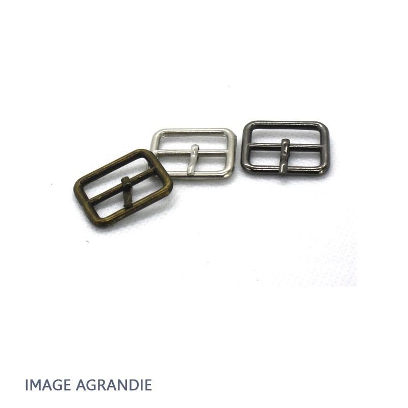2 x 20mm Boucles des ceintures / Métal / Carre
