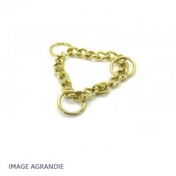 14cm chaîne Martingale / Metal /  Anneaux / Laiton Massif