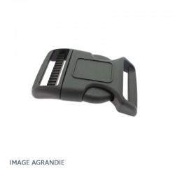 1 x 30mm Boucle Attache Rapide / Fermoir Clip / Plastique / Noir / Courbe / Renforcée