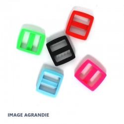 2 x 20mm Boucles Coulisse / Passants Doubles /  Plastique
