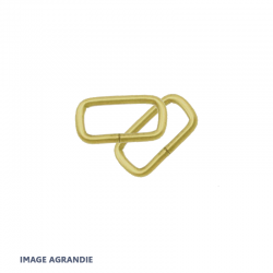 2 x  Anneaux Rectangulaires / Passants Simples / Laiton Massif / Leger