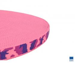 1m x 20mm Sangle / Polypropylène / Epais / Fabriqué dans l'ue / camouflage  rose
