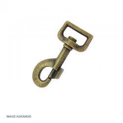 1 x 25mm Mousqueton Pivotant / Métal / Bronze Antique / Animaux / Longueur 81mm