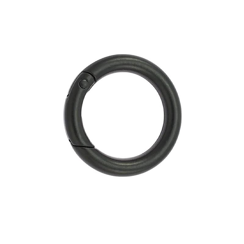1 x 26mm Fermoirs Mousquetons/  Rond / Metal / Noir