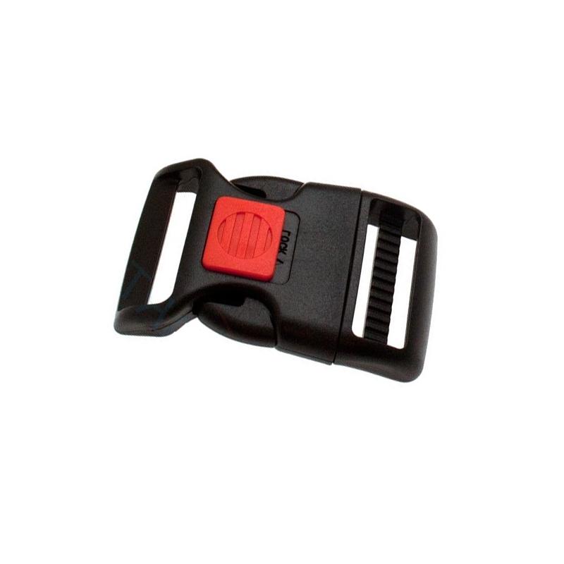 1 x 38mm Boucle Attache Rapide / Fermoir Clip / Plastique / Sécurité / Noir